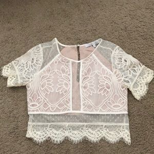 Lace crop top set. Selling as a set